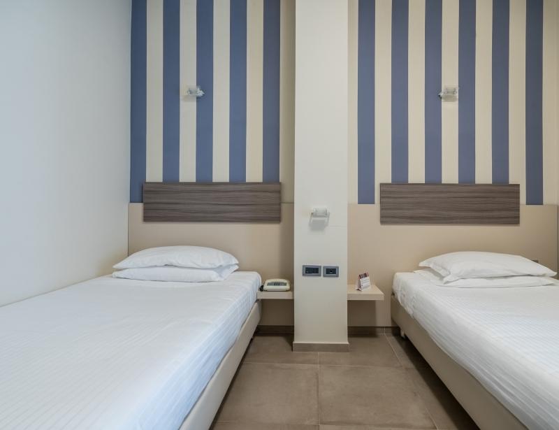 Le camere doppie dell'Hotel Palace di Battipaglia