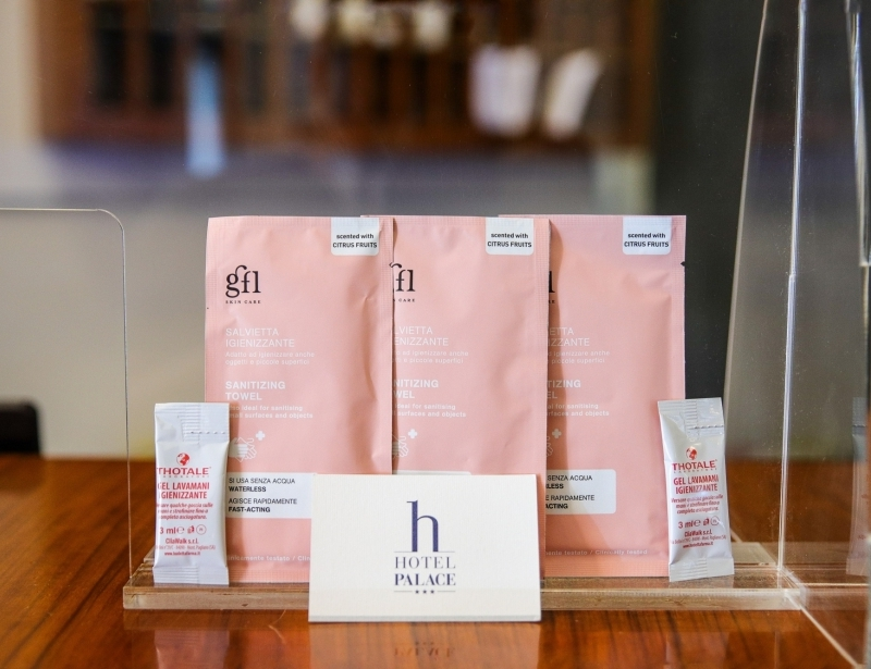 Safety kit for Guests of Hotel Palace
